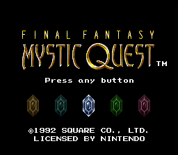 Final Fantasy Mystic Quest intro